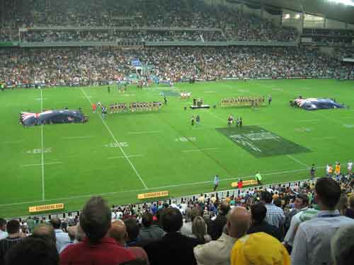 Australia and New Zealand during national Anthems