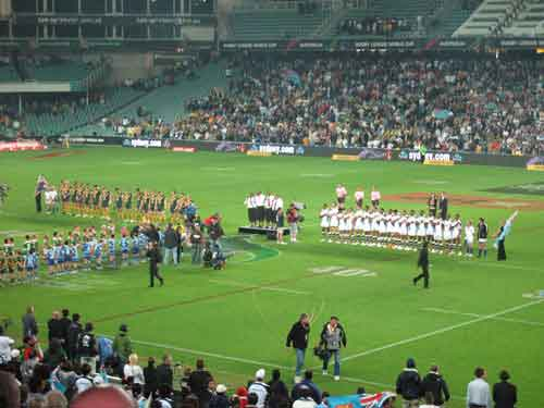 2008 RLWC Semi Final Australia and Fiji during national anthems