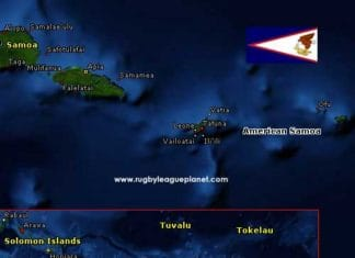 American Samoa Rugby League map