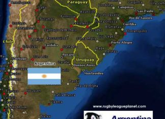 Argentina Rugby League map