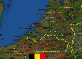 Belgium Rugby league map