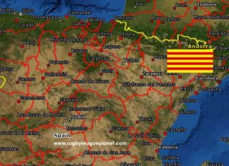 Catalonia Rugby League map