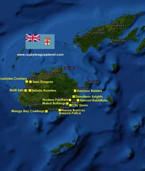Fiji Rugby League map