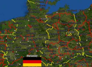 Germany Rugby League map