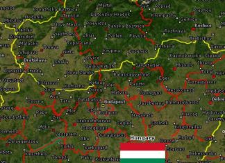 Hungary Rugby League map