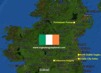 Rugby League Ireland map