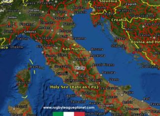 Italy Rugby League map