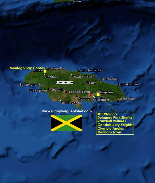 Jamaica Rugby League map