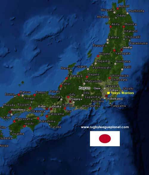 Japan Rugby League map