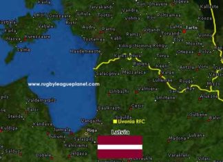 Latvia Rugby League map