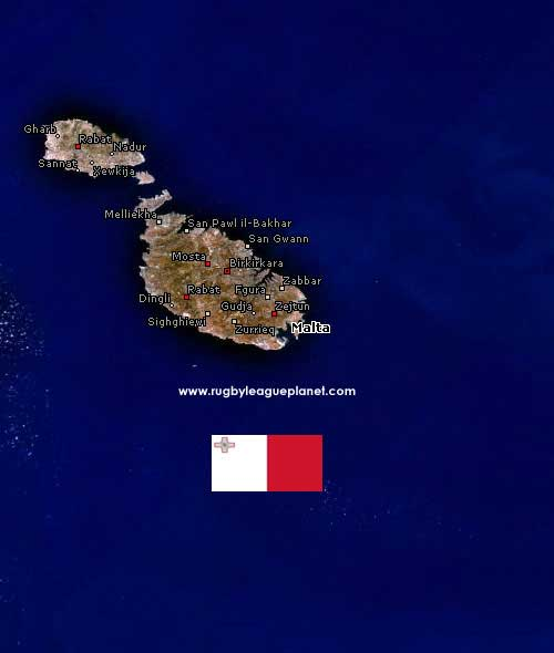 Malta Rugby League map