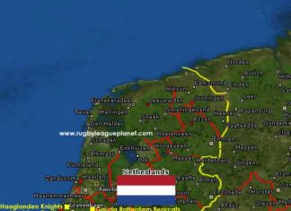 Netherlands Rugby League map