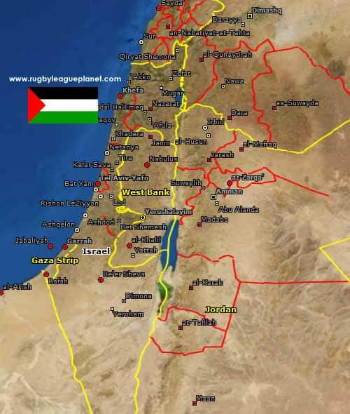 Palestine Rugby League map