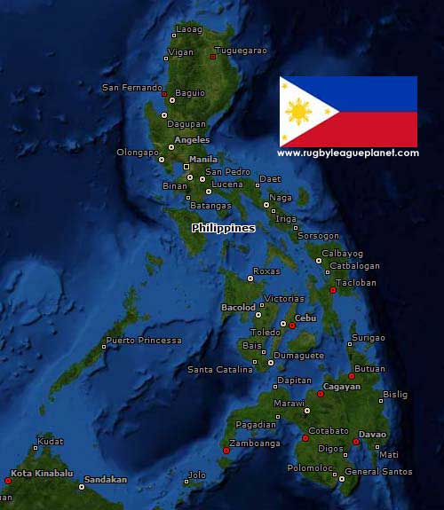 Philippines Rugby League map