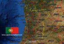 Portugal Rugby League map