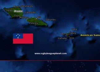 Samoa Rugby League map