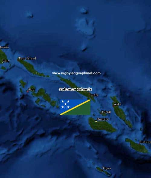 Solomon Islands Rugby League map