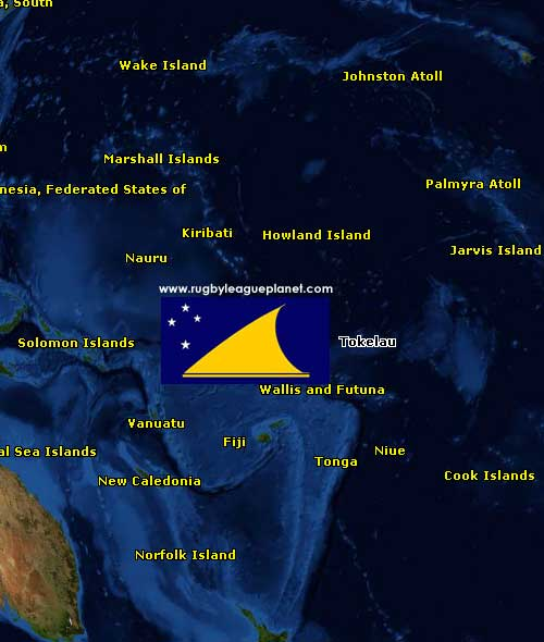 Tokelau Rugby League map