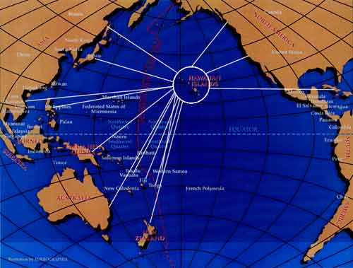 Hawaii proximity to Russia
