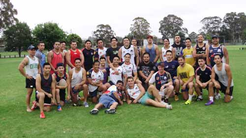 Philippines Rugby League training session Sydney