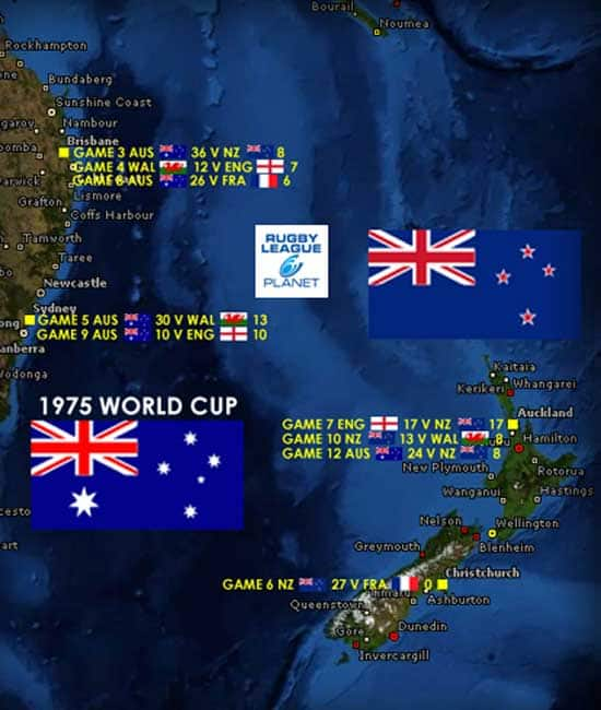 1975 Rugby League World Cup map 1