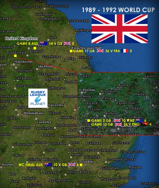 1989 to 1992 Rugby League World Cup map 3