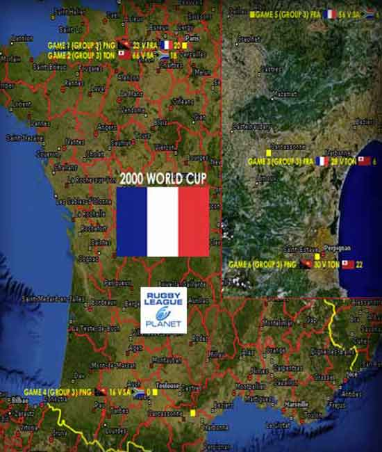 2000 Rugby League World Cup map 2