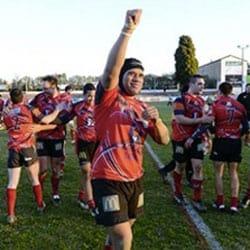 Iafeta celebrates a win. Photo – www.13-limouxin.fr