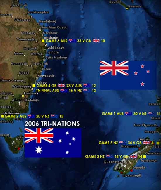 2006 Rugby League Tri-Nations map