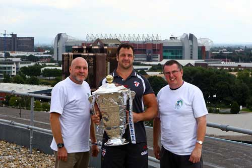 Adrian Morley with World Cup