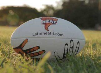 Latin Heat Rugby League Ball