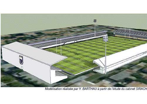 Indicative Sketch of Stade Des Minmes following proposed reconstruction (TOXVIII)