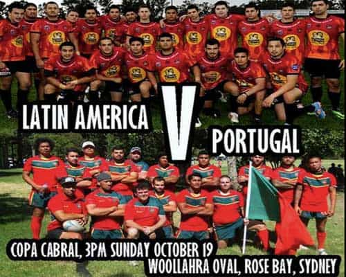 Latin America vs Portugal in Rugby League at Rose Bay