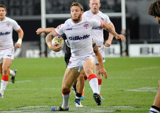 Daryl Clark in action against New Zealand