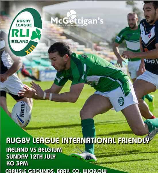 Ireland v Belgium Rugby League 2015