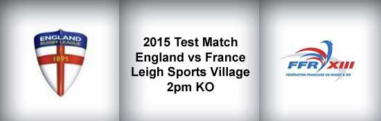England vs France 2015 Rugby League Test Match