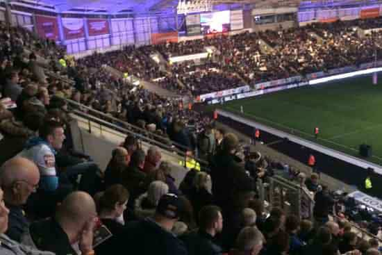 It was a packed KC Stadium for the Test