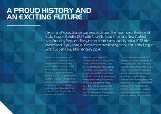 Rugby League Strategic Plan 2025 Page 1
