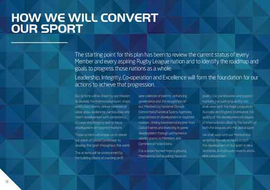 Rugby League Strategic Plan 2025 Page 9