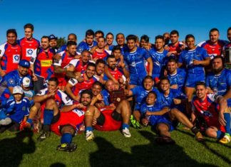 The Chilean and El Salvador national Rugby League teams
