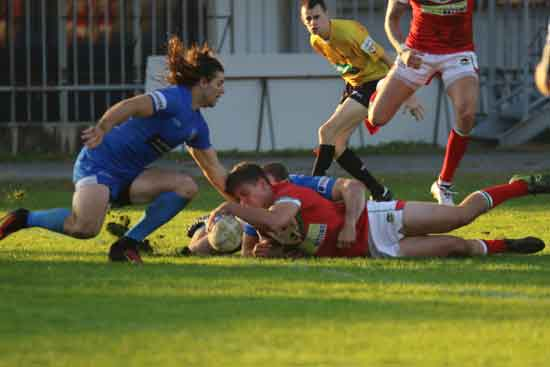 Ben Morris in action against Italy