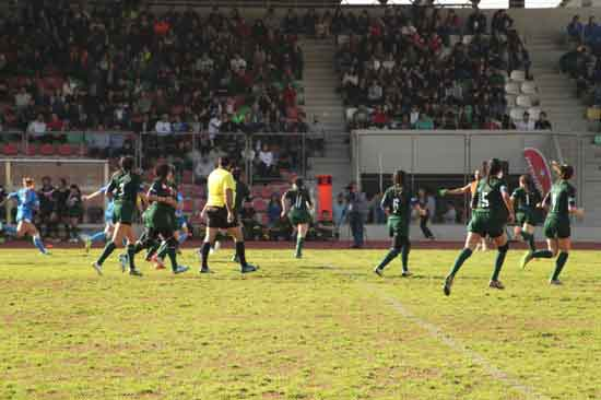 Women's Rugby League match in Middle East