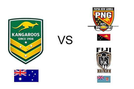 Australia vs Fiji and PNG October 14th 2017 in Suva