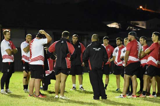 Malta team at training in lead up to clash with Lebanon