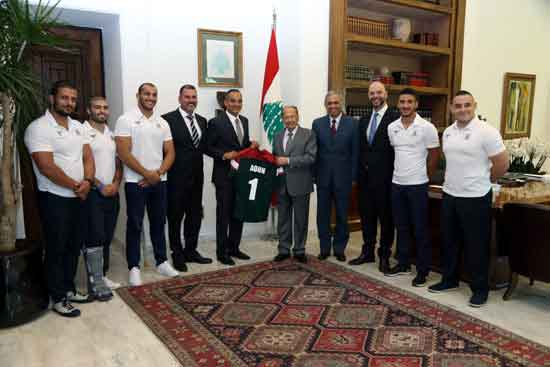 Lebanon rugby league receive presidential support for World Cup