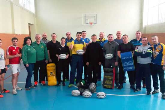 Rugby League coaching and match officials courses run in Ukraine
