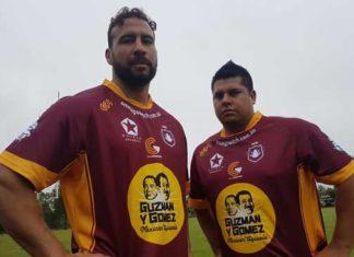 Matt Gardner with fellow forward Juan David Espinal