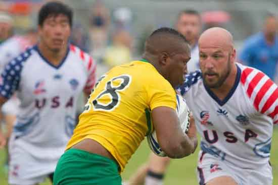 David Ulch in action against Jamaica