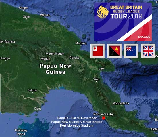 2019 Great Britain Tour of Papua New Guinea