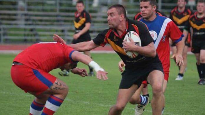 Simon Cooper playing against Czech Republic in 2008